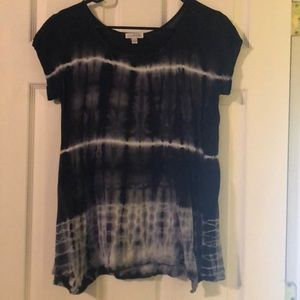 Black and White Tie Dye Top from Charming Charlie